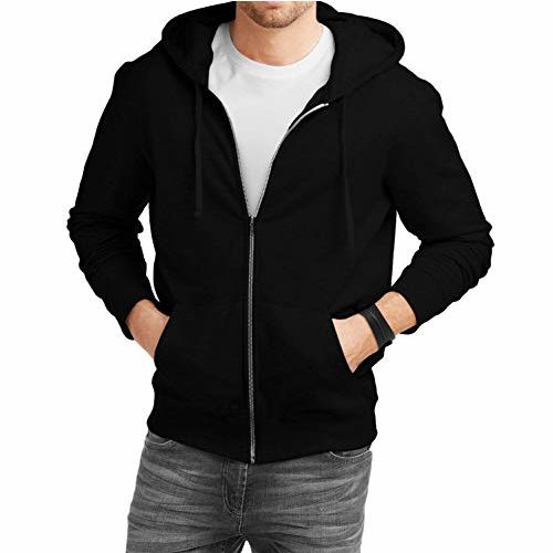 fanideazMen's Cotton Hooded Sweatshirt with Zip