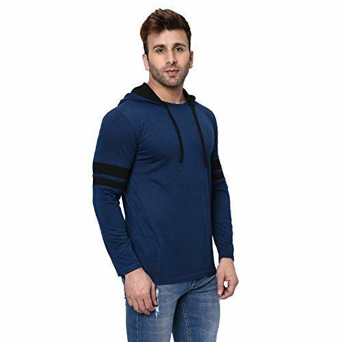 JANGOBOY Men's Full Sleeve Cotton Hooded T-Shirt