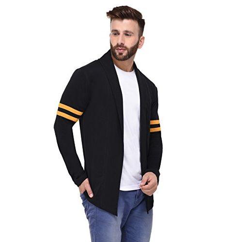 RIGO Black Cotton Jersey Long Sleeves Cardigan