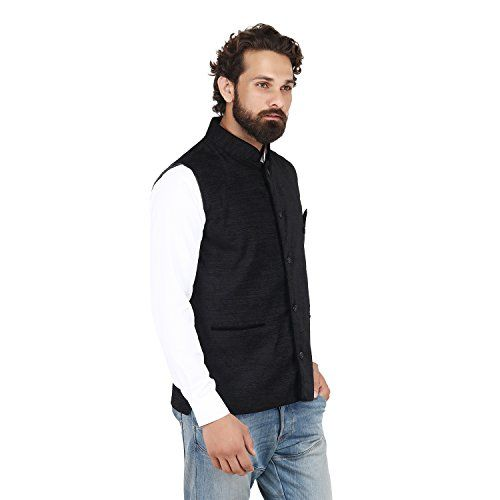 AKAAS Men's Velvet Nehru Jacket Waistcoat Ocassion Festival Marriage
