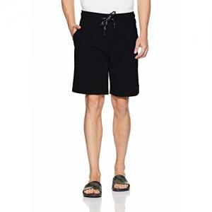 Van Heusen Athleisure Black Cotton Regular Fit Shorts