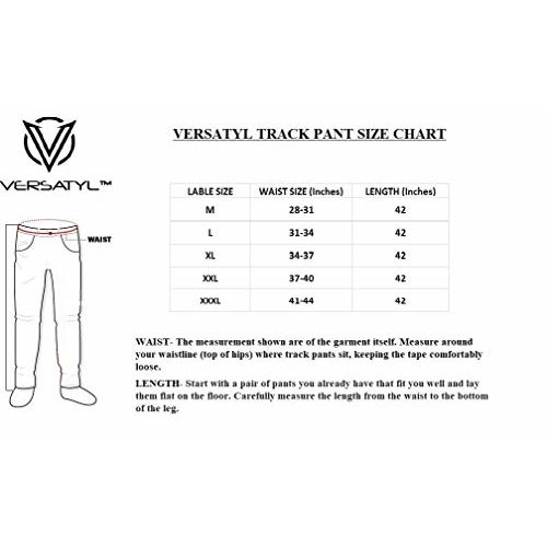 VERSATYL Men's Cotton Stripe Joggers Track Pant