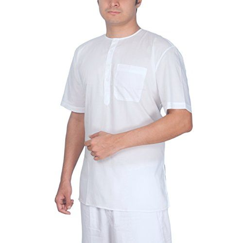 Rajubhai Hargovindas Men's White Fine Cotton Short Kurta | Pack of 2 |