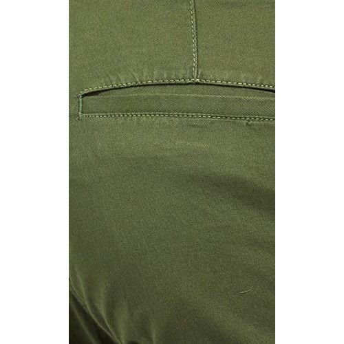 Americanchoice Dark Green Solid Regular Fit Casual Stretchable Men's Trousers