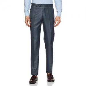 Raymond Men's Blue PV Formal Trousers