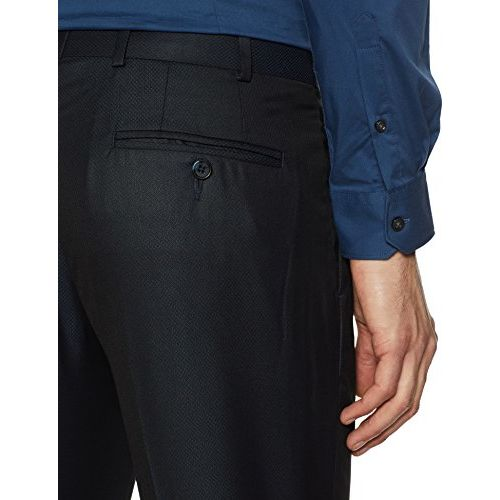 Raymond Men's Pleat-Front Formal Trousers