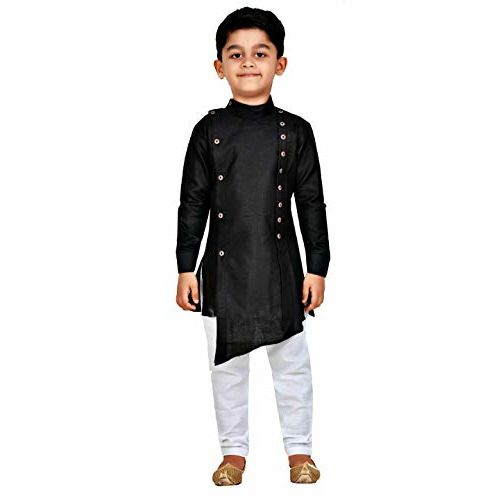 Kashvi Boy's Cotton Kurta Pyjama Dress Set