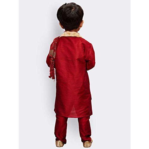 JBN Creation Boys Cotton Silk Kurta and Pyjama Set