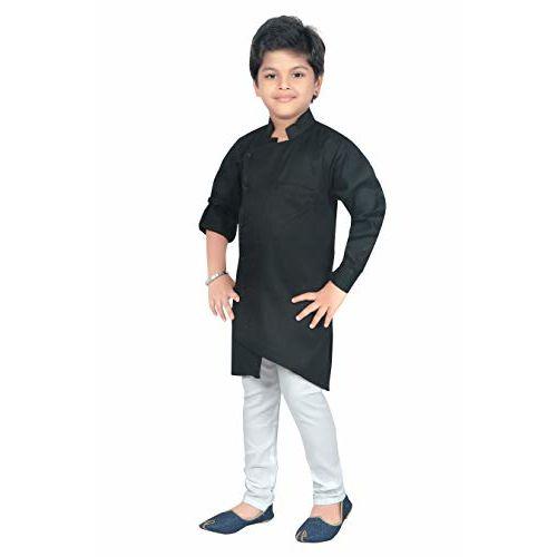 Ahhaaaa Kids Ethnic Wear Indo Western Kurta and Pyjama Set for Boys