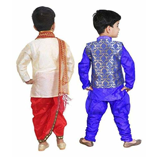 DIGIMART Kid's Multicolor Festive Sherwani with Modi Jacket for Boys Combo (BLUETDK001_$P)