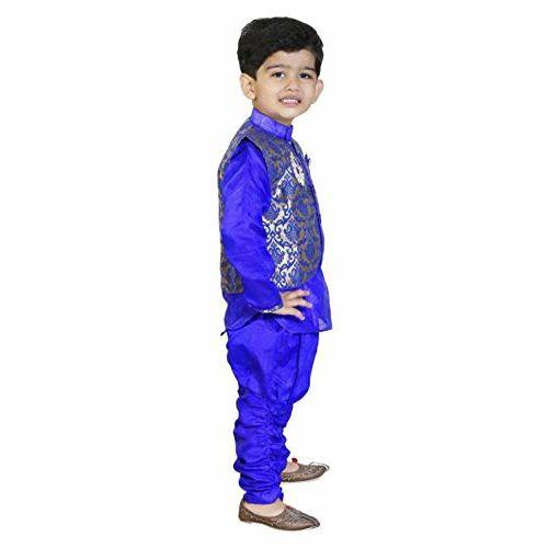 DIGIMART Kid's Blue color Festive Sherwani with Modi Jacket for Boys (BLUEMODI_$P)