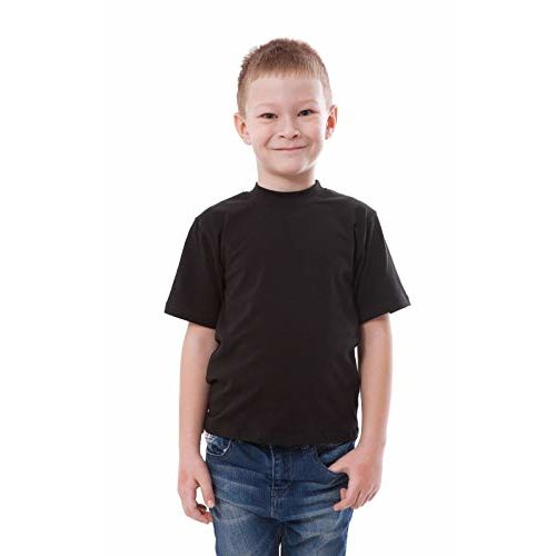 Double F Round Neck Half Sleeve Solid T-Shirt for Boys