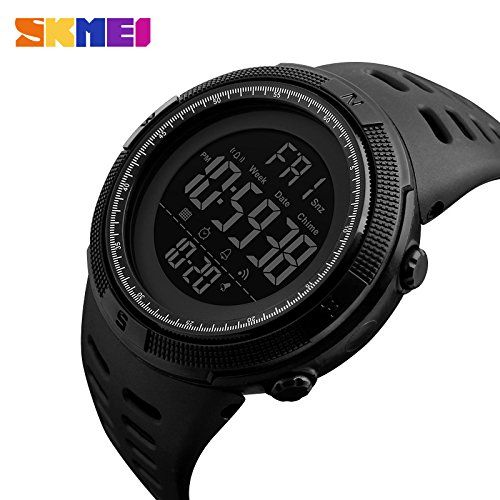 SKMEI 1251 Black Plastic Round Digital Watch