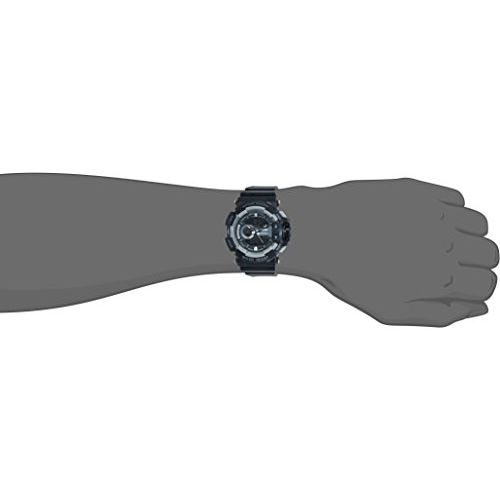 Skmei 1117BBGREY Black Silicone Analog-Digital Dial Unisex Watch