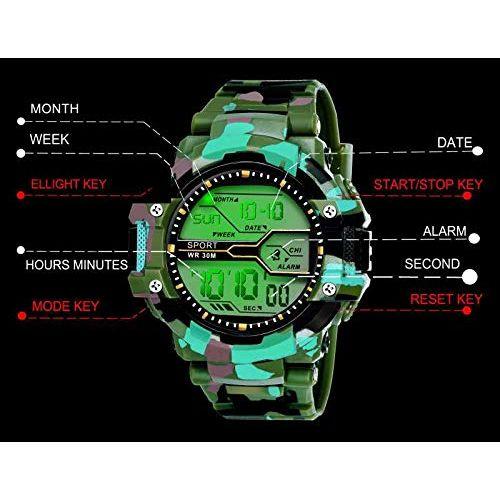 fadiso fashion FF01017- GR Digital Sports Watch - for Men