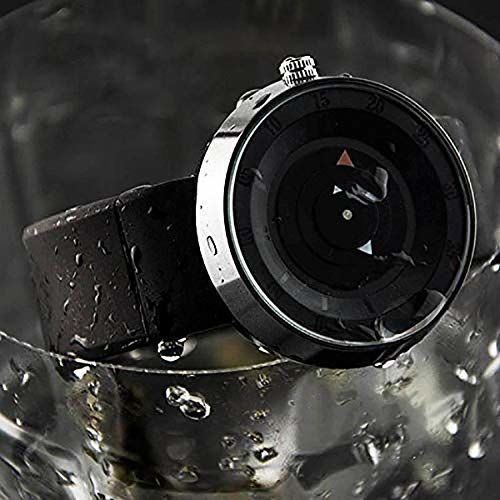 DAMIT Imported Casual Black Dial Rubber Strap Men's Watch