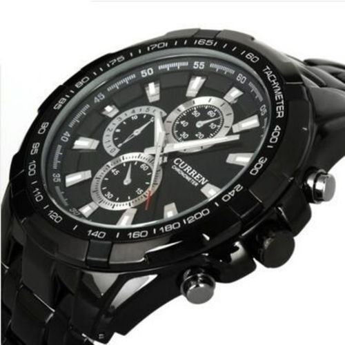 Curren Analogue Black Dial Mens Watch - M109