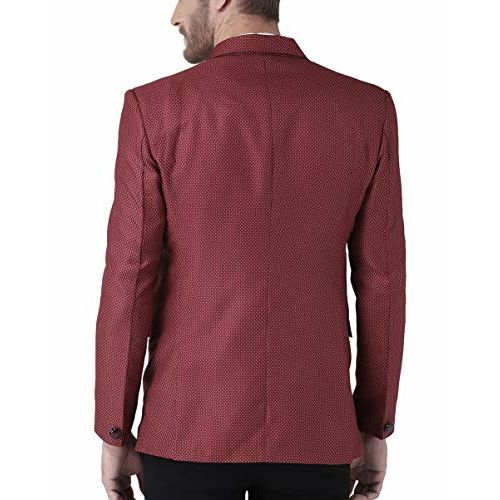 hangup Men's Notch/bandgala Lapel Regular Fit Blazer Available in 6 Sizes(up to 3XL)