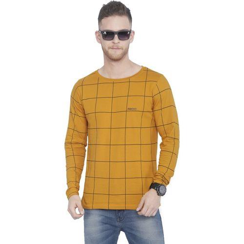 Rodid Printed Men Boat Neck Yellow T-Shirt