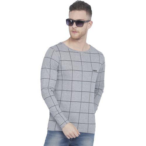 Rodid Printed Men Boat Neck Grey T-Shirt
