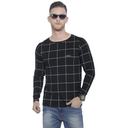 Rodid Printed Men Boat Neck Black T-Shirt