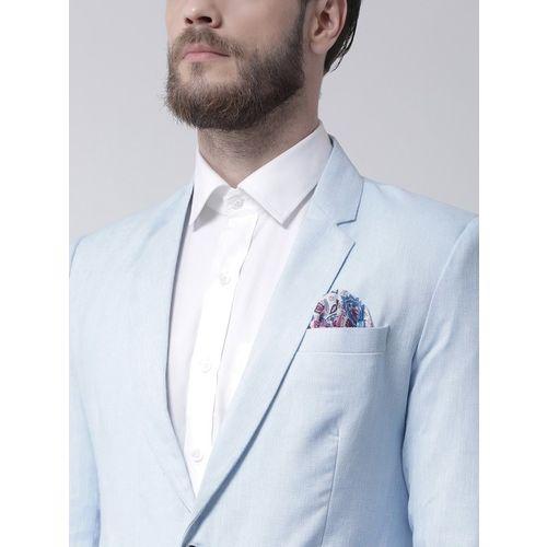 Hangup Men Blue Solid Regular Fit Single-Breasted Blazer