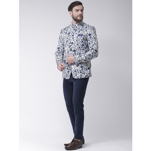 hangup Floral Print Waistcoat with Pocket Square