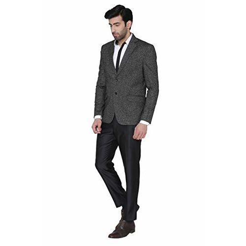 Wintage Men's Rayon Notch Lapel Two Button Coat Blazer Jacket