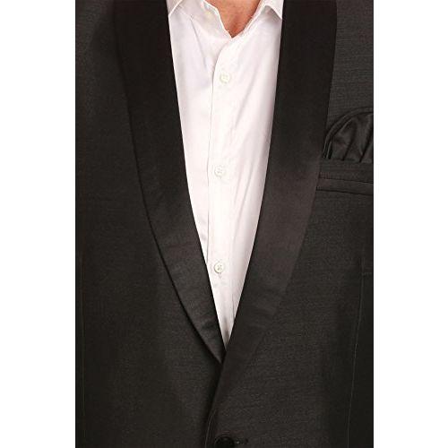 Wintage Men's Poly-Satin Single Button Shawl Collar Festive Black Blazer- Three Colors