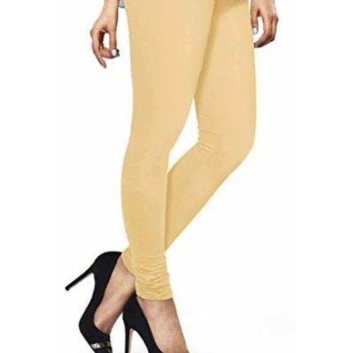 LUX LYRA FreeSize Stretchable Chudidaar Cotton Leggings For Womens/Girls/Ladies