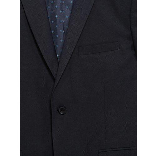 Shaftesbury London Mens Slim Fit Cotton Formal Blazer Single Breast Jacket(Navy,Parent)