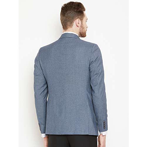 Shaftesbury London Mens Slim Fit Matte Formal Blazer Single Breast Jacket(Grey,Parent)