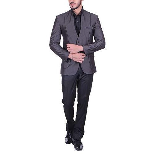 Shaftesbury London Mens Slim Fit Cotton Formal Blazer Single Breast Jacket(Grey,Parent)