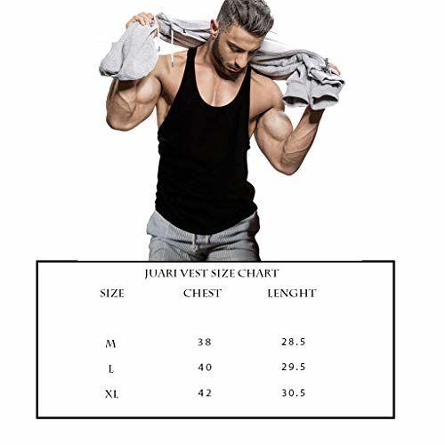JUARI BE A GENTLEMEN JUARI BE A Gentleman Men's Cotton Best Muscle Gym Bodybuilding Vest