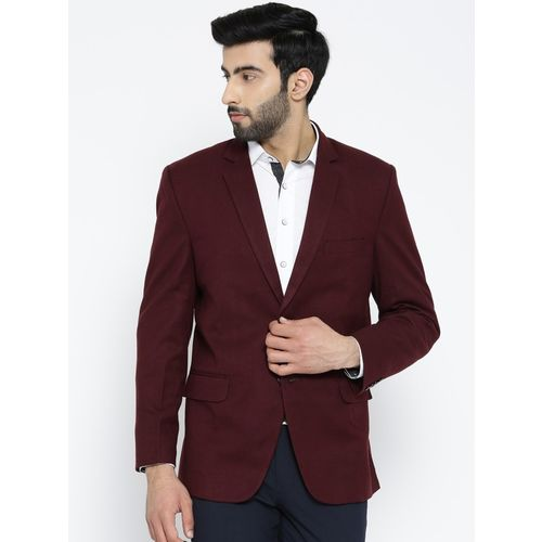 Shaftesbury London Solid Single Breasted Festive, Casual Men Blazer(Red)