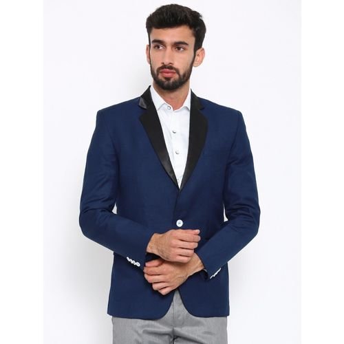 Shaftesbury London Solid Single Breasted Festive, Casual Men Blazer(Blue)