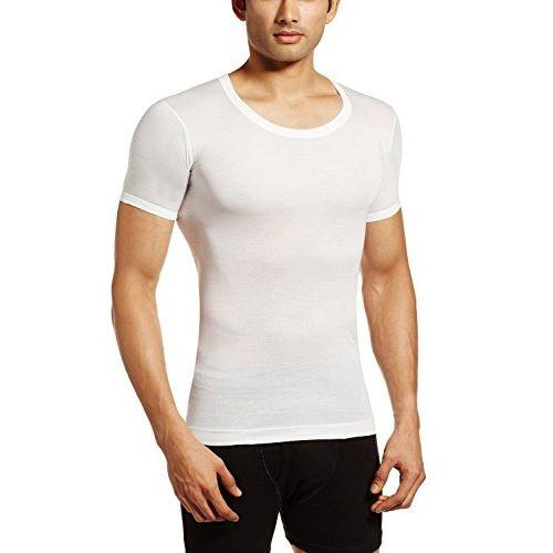 Rupa Jon Mens's White Half Sleeves Vest Pack of 5 Pcs (Size-90) (Full Baju Baniyan)