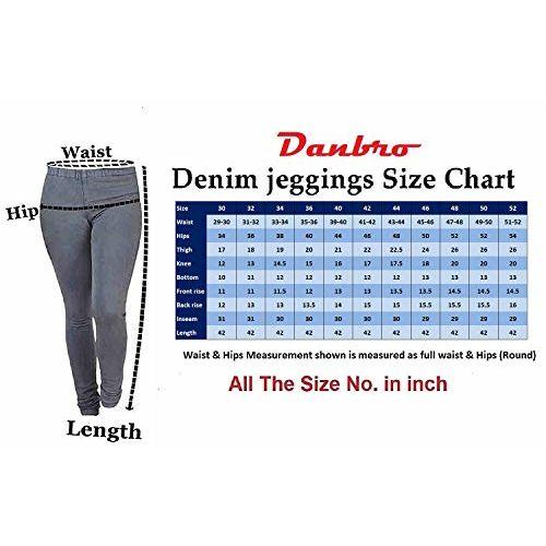 Danbro Women's Denim Jeggings (WDJ2,Multicolour) - Pack of 2