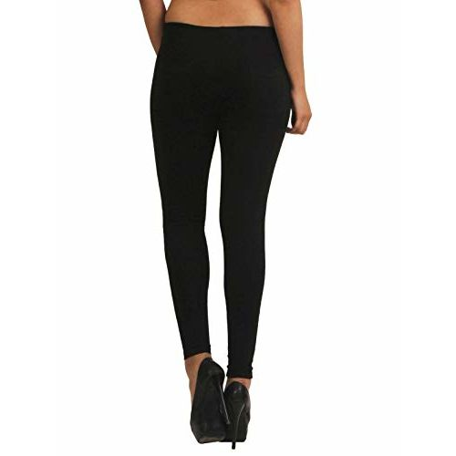 Frenchtrendz Womens's Cotton Spandex Jegging Pull On (Black, XS-4XL)