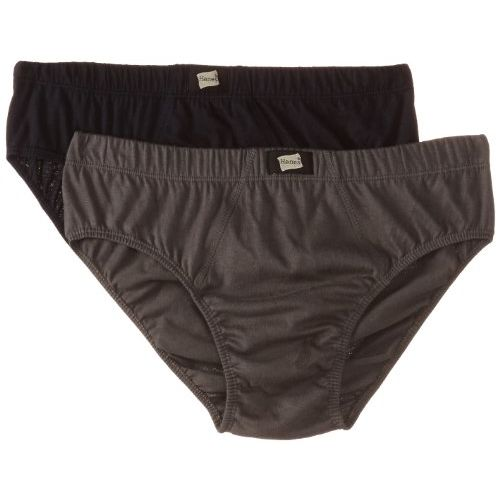 Hanes Mens Solid Briefs - Pack of 2