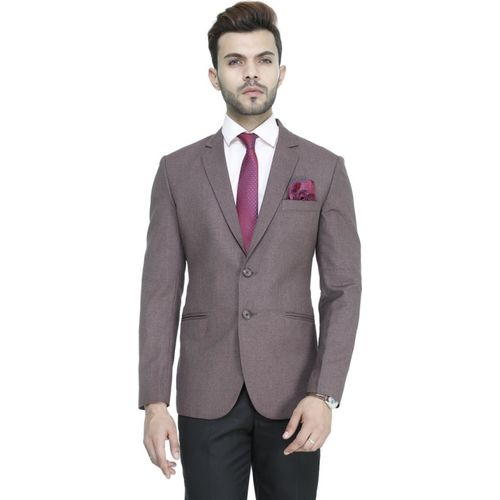 ManQ Solid Single Breasted Party, Formal, Casual, Wedding Men Blazer(Maroon)
