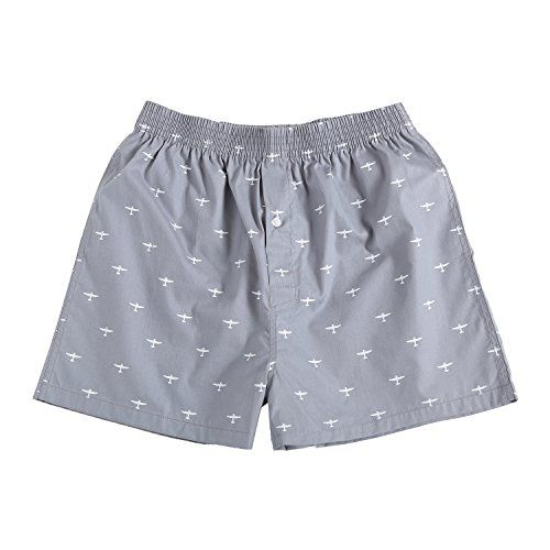 The Cotton Company Men's Cotton Printed Boxer Shorts - Pack of 3 - Jet Plane