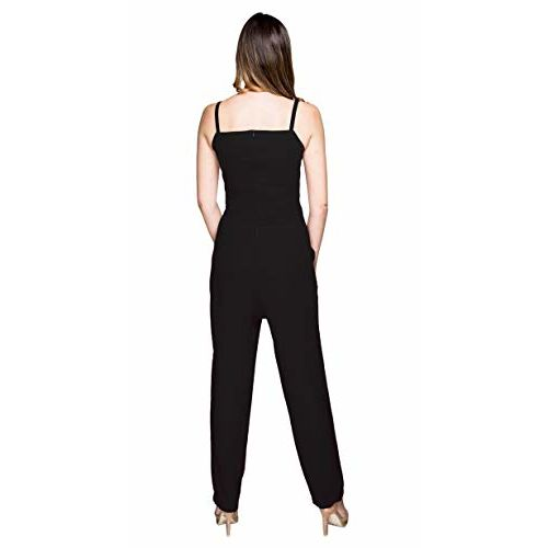 ITRRA Women's Solid Sweetheart Neck Strap Ankle Length Jumpsuit