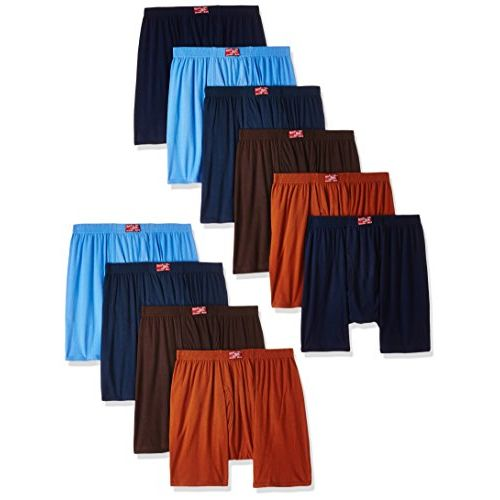 Rupa Jon Men's Cotton Trunks (Pack of 10) (Colors May Vary)
