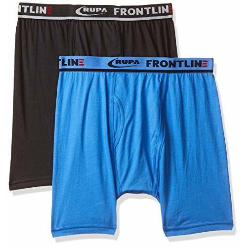 RUPA Frontline Men's Solid Trunks (Pack of 2)