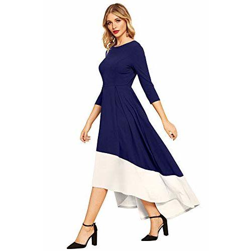 ILLI LONDON WOMEN'S FULL LENGTH 3/4 SLEEVE HIGH LOW DESIGNER GOWN DRESS
