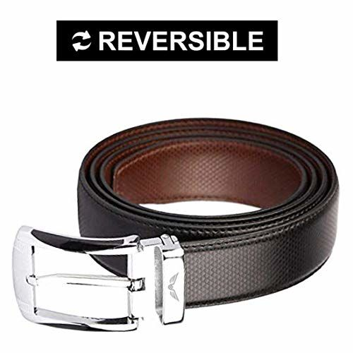 Axe Style Black & Brown Artificial Leather Designer Military Buckle Belts