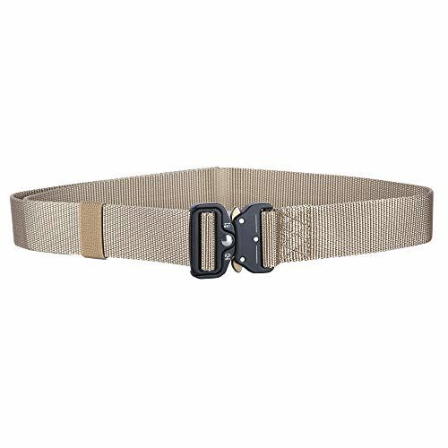 CONTACTS Beige Nylon Belt Military Buckle belt