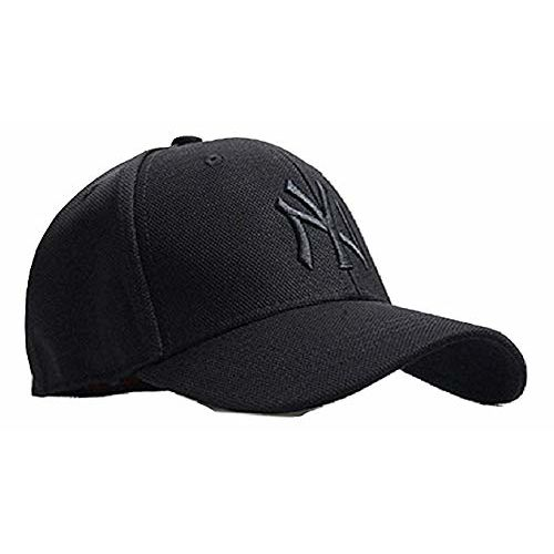 WersoaTM Premium Black NY Stretchable Back Side Closed Solid Stylish Caps Unisex