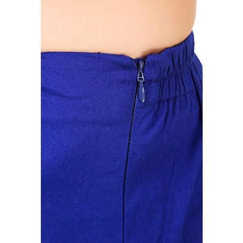 Q-rious Women's Cotton Lycra Trousers/Pants/Chinos (Pack of 2)